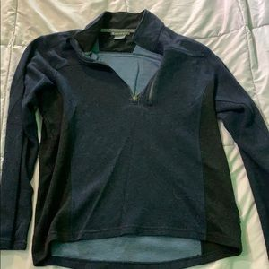 Exofficio Blue & Black Long Sleeve Shirt